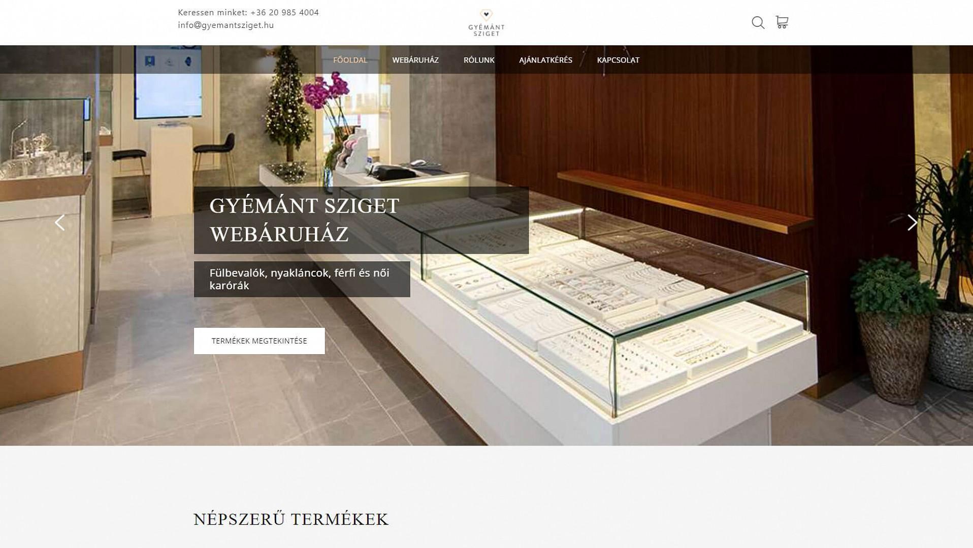 Gyémánt Sziget webáruház